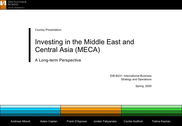 EIB-B231: International Business Strategy and Operations Spring, 2009 Country Presentation Investing in the Middle East an...