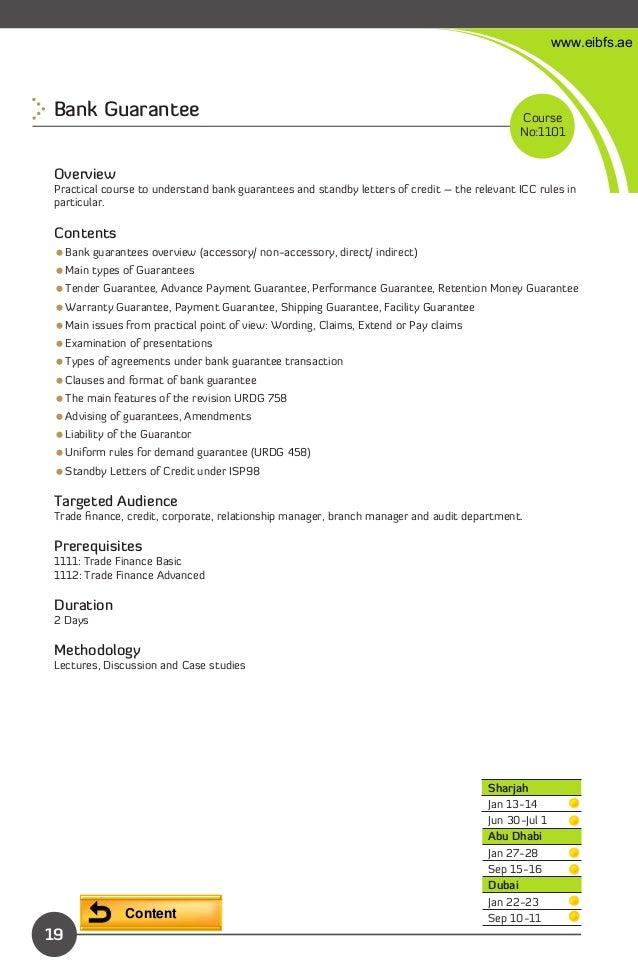 Eibfs banking and finance annual training plan 2013 operations programs 20 eibfsbank guarantee spiritdancerdesigns Choice Image