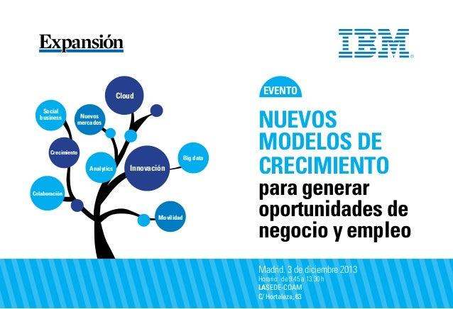 evento  Cloud Social business  Nuevos mercados  Crecimiento  Big data Analytics  Innovación  Colaboración  Movilidad  Nuev...