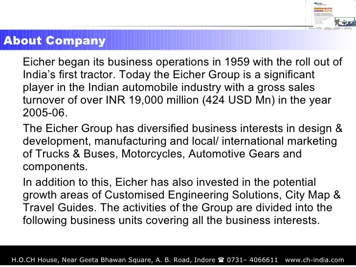 csr case study eicher motors india