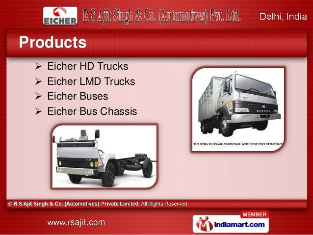Eicher Trucks And Buses By R S Ajit Singh Amp Co