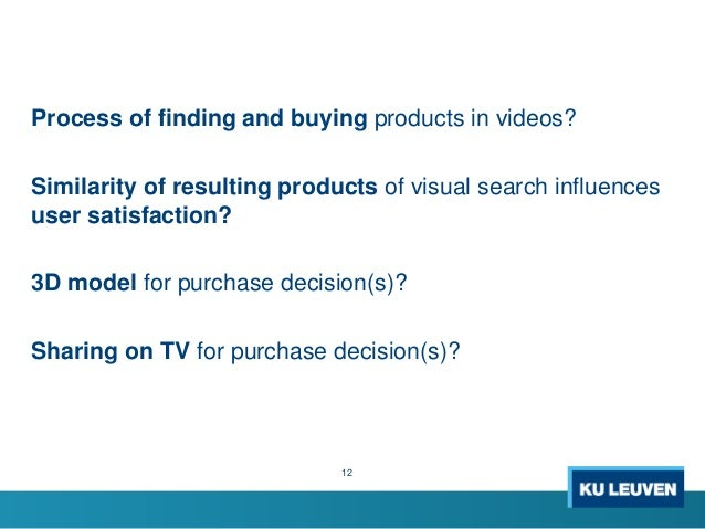 Process of finding and buying products in videos? Similarity of resulting products of visual search influences user satisf...