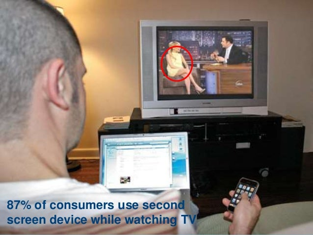 1 87% of consumers use second screen device while watching TV