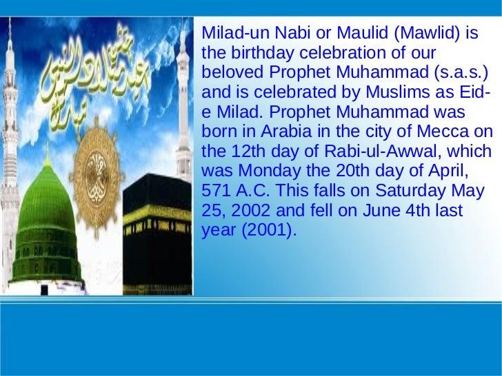 celebration eid milad n't nabi essays