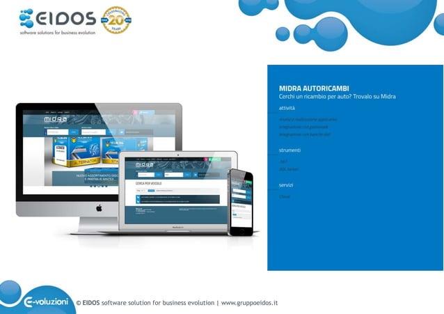 © EIDOS software solution for business evolution   www.gruppoeidos.it
