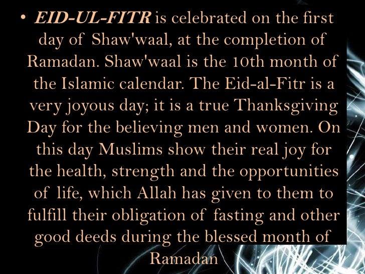 Presentation about eid al fitr
