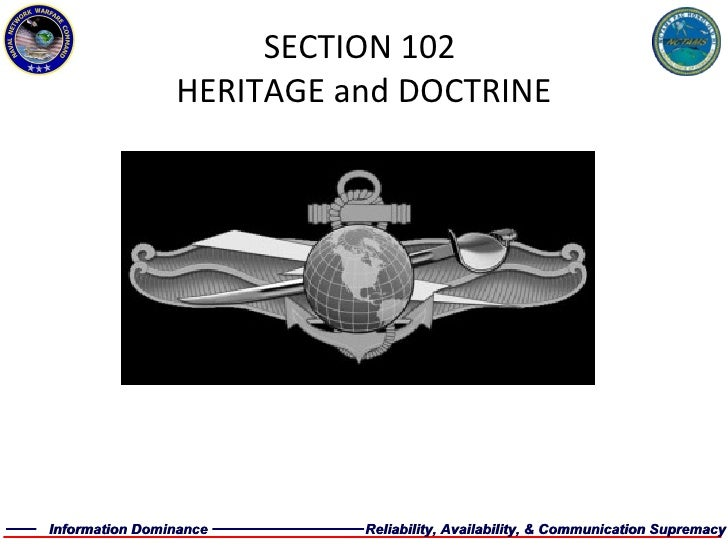 SECTION 102  HERITAGE and DOCTRINE