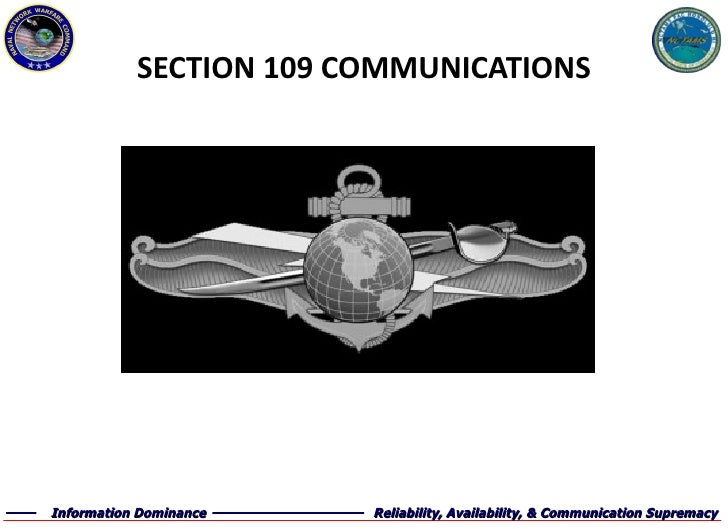 SECTION 109 COMMUNICATIONS