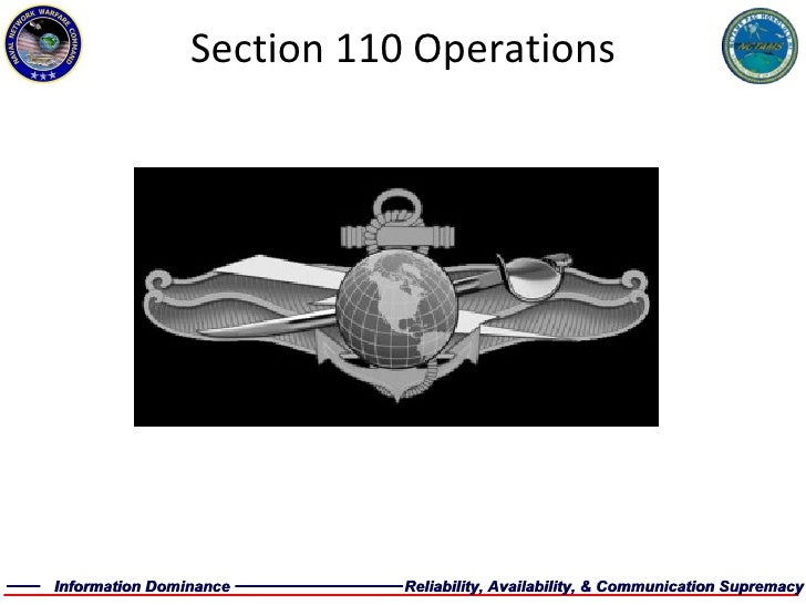Section 110 Operations