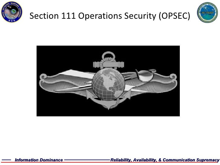 Section 111 Operations Security (OPSEC)