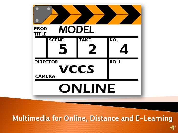 Multimedia for Online, Distance and E-Learning<br />