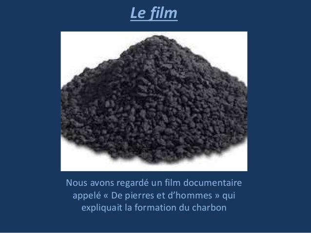 Le film  Nous avons regardé un film documentaire appelé « De pierres et d'hommes » qui expliquait la formation du charbon