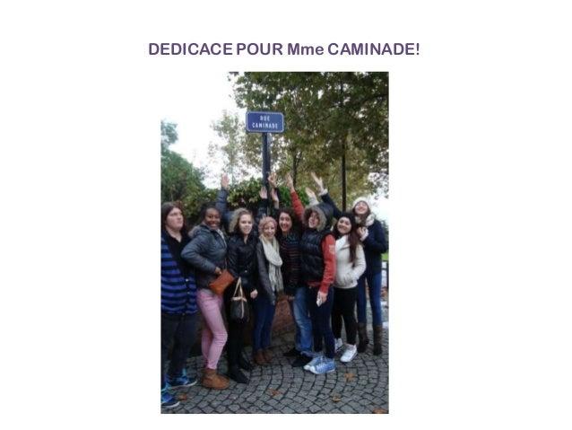 DEDICACE POUR Mme CAMINADE!