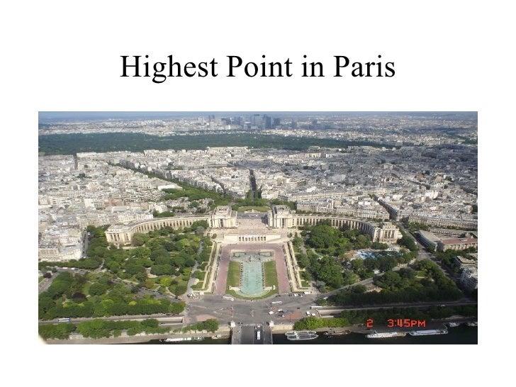 Highest Point in Paris