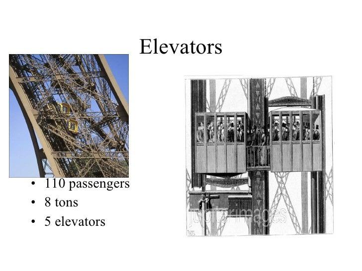Elevators <ul><li>110 passengers </li></ul><ul><li>8 tons </li></ul><ul><li>5 elevators </li></ul>