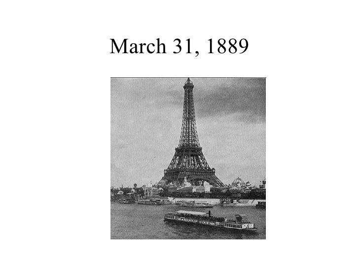March 31, 1889
