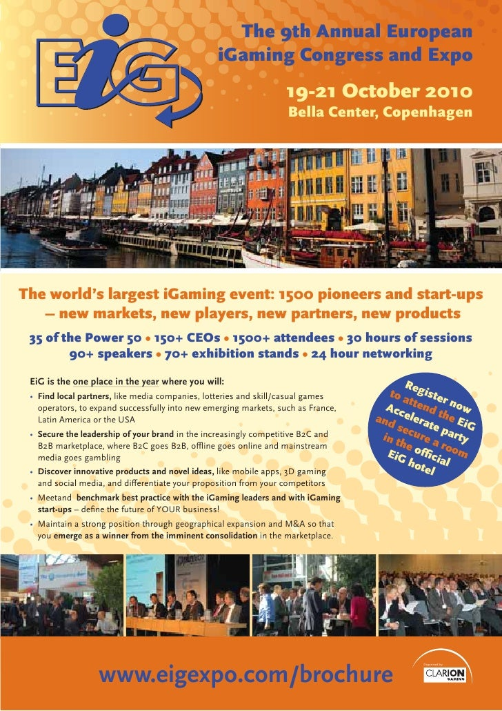 The 9th Annual European                                                  iGaming Congress and Expo                        ...