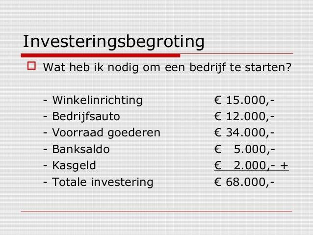 bedrijf starten kosten