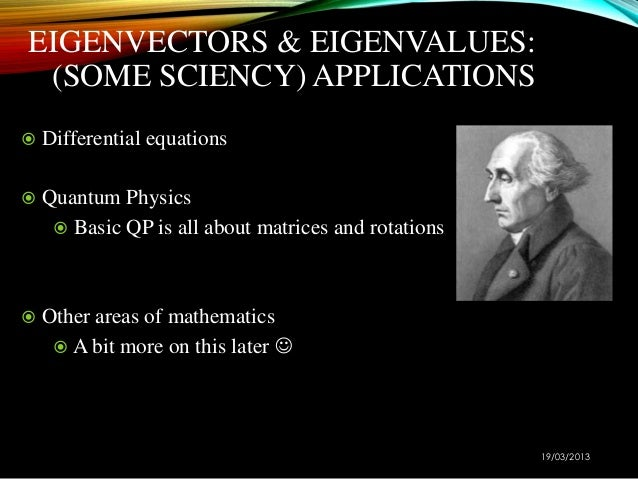 The application of eigenvalue and eigenvector essay