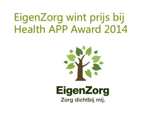 EigenZorg wint prijs bij Health APP Award 2014