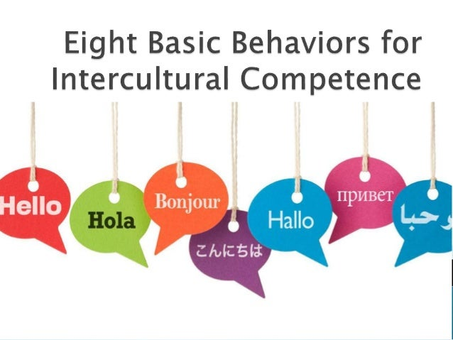 Eight basic behaviors for intercultural competence