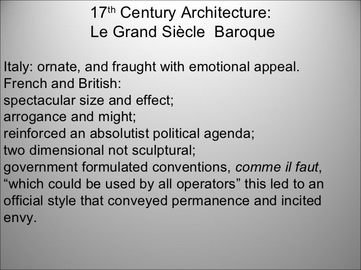 17th 18th 19th and 20th century architecture ppt for Interior design styles 20th century