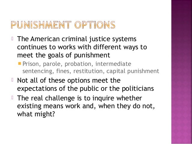 an overview of the capital punishment as the means for the discipline of the criminals Benefits of capital punishment, free study guides and book notes including comprehensive chapter analysis, complete summary analysis, author biography information.
