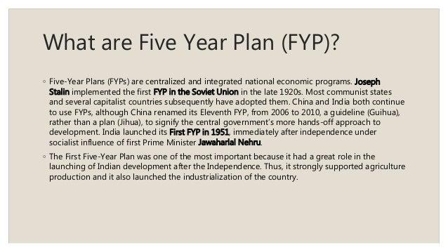 5 year it plan