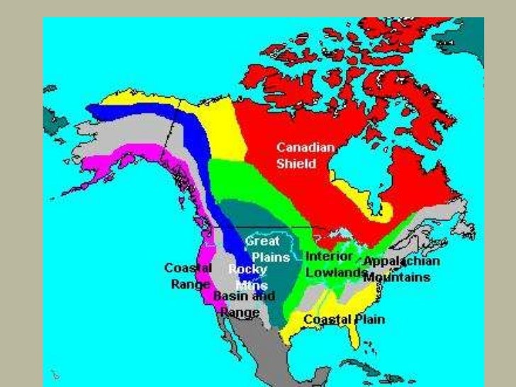 Eight Regions Of North America - Mountain ranges of united states