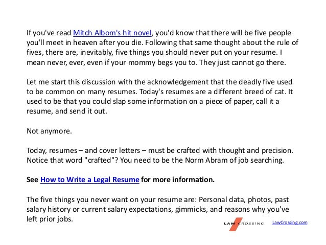 Rules For Cover Letters