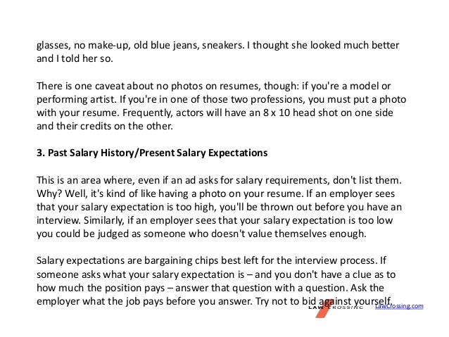 salary requirement on cover letter