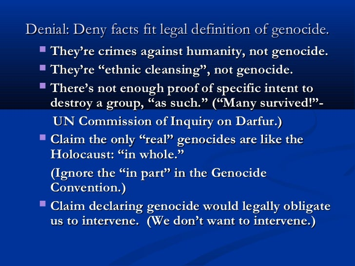 could genocide have been prevented How it could have been prevented is to inform everyone of the un charter right to international right to vote ask if us government deaf that it has not heard citizens wishes on this then for citizens to cease oil use conserve water and create un darfur citizen forces.