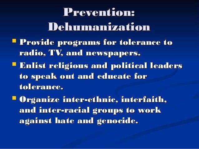 Genocide prevention program