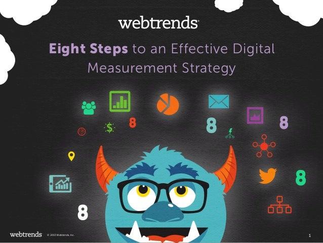 Eight Steps to an Effective Digital Measurement Strategy 1© 2015 Webtrends, Inc.