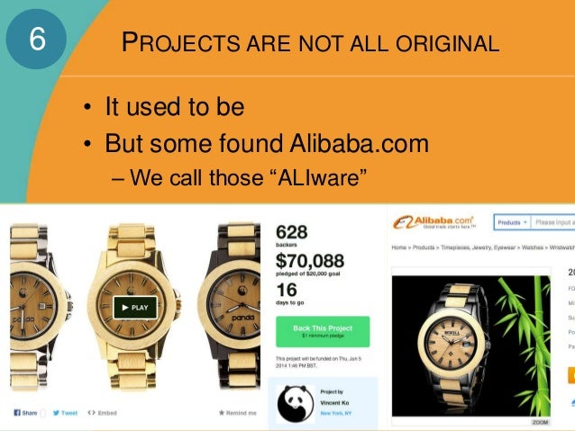 """PROJECTS ARE NOT ALL ORIGINAL  • It used to be  • But some found Alibaba.com  – We call those """"ALIware""""  6"""