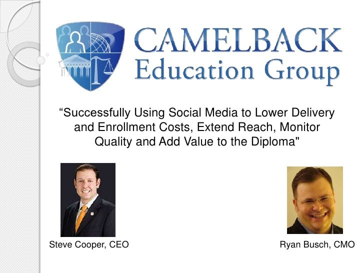 """Successfully Using Social Media to Lower Delivery and Enrollment Costs, Extend Reach, Monitor Quality and Add Value to th..."