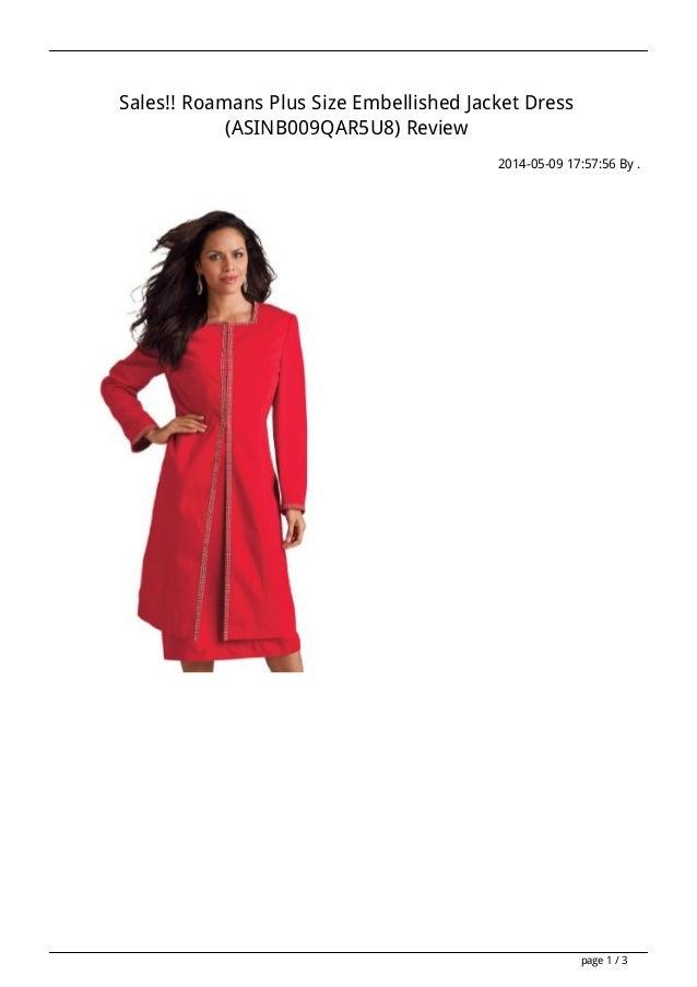 Sales!! Roamans Plus Size Embellished Jacket Dress (ASINB009QAR5U8) Review 2014-05-09 17:57:56 By . page 1 / 3