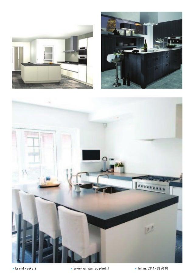 Voorbeelden eiland keukens - Eigentijdse keuken met centraal eiland ...