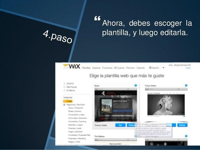 Una vez hallas editado la página debes agregarle el contenido que desees