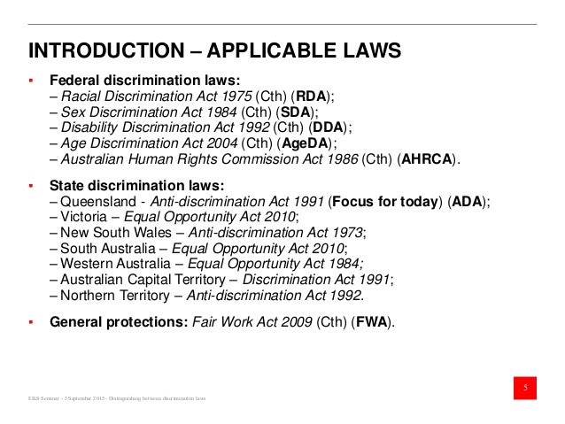 Sexual discrimination act australia