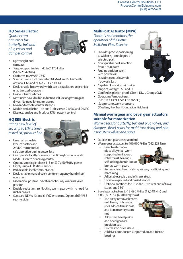 Eim Electric Valve Actuator Product Selection Guide