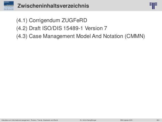 202 © PROJECT CONSULT Unternehmensberatung Dr. Ulrich Kampffmeyer GmbH 2011 / Autorenrecht: <Vorname Nachname> Jun-15 / Qu...