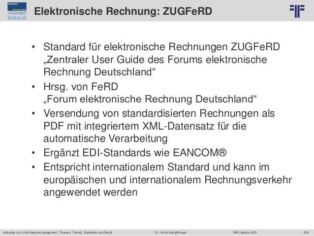 204 © PROJECT CONSULT Unternehmensberatung Dr. Ulrich Kampffmeyer GmbH 2011 / Autorenrecht: <Vorname Nachname> Jun-15 / Qu...