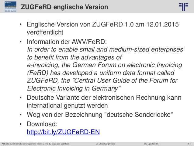 211 © PROJECT CONSULT Unternehmensberatung Dr. Ulrich Kampffmeyer GmbH 2011 / Autorenrecht: <Vorname Nachname> Jun-15 / Qu...