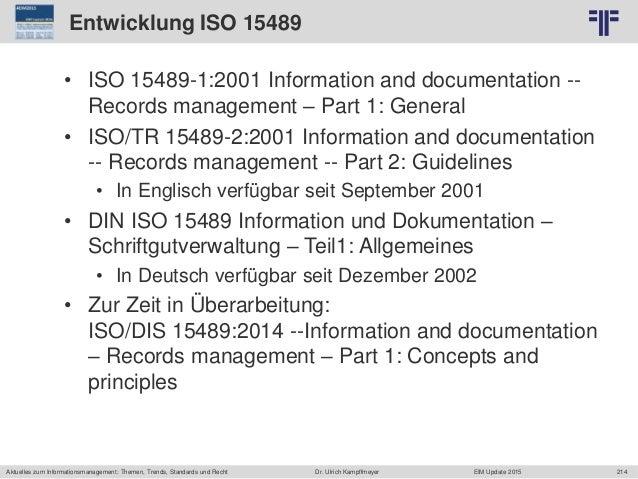 214 © PROJECT CONSULT Unternehmensberatung Dr. Ulrich Kampffmeyer GmbH 2011 / Autorenrecht: <Vorname Nachname> Jun-15 / Qu...