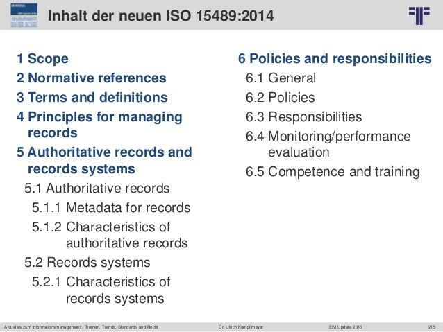 215 © PROJECT CONSULT Unternehmensberatung Dr. Ulrich Kampffmeyer GmbH 2011 / Autorenrecht: <Vorname Nachname> Jun-15 / Qu...