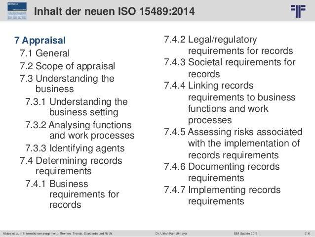 216 © PROJECT CONSULT Unternehmensberatung Dr. Ulrich Kampffmeyer GmbH 2011 / Autorenrecht: <Vorname Nachname> Jun-15 / Qu...