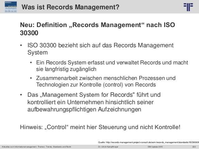 222 © PROJECT CONSULT Unternehmensberatung Dr. Ulrich Kampffmeyer GmbH 2011 / Autorenrecht: <Vorname Nachname> Jun-15 / Qu...