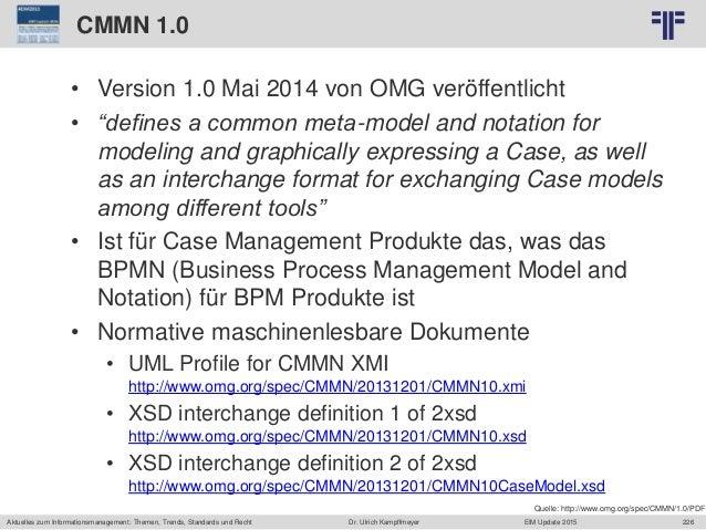 226 © PROJECT CONSULT Unternehmensberatung Dr. Ulrich Kampffmeyer GmbH 2011 / Autorenrecht: <Vorname Nachname> Jun-15 / Qu...