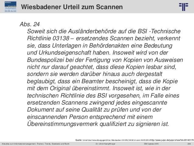 236 © PROJECT CONSULT Unternehmensberatung Dr. Ulrich Kampffmeyer GmbH 2011 / Autorenrecht: <Vorname Nachname> Jun-15 / Qu...